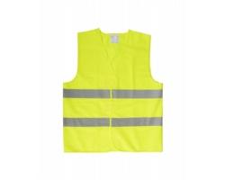 Reflexní bezpečnostní vesta VISIBO v pouzdru na zip - bezpečnostní žlutá / vel. M