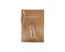 Reklamní semínka - Padáček pampelišky ve skleničce s papírovou kartou s oboustranným potiskem