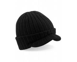 Pletená čepice s kšiltem Peaked Beanie