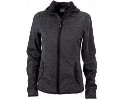 Dámská bunda James & Nicholson Ladies Knitted Fleece Hoody