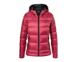 Dámská bunda James & Nicholson Hooded Down Jacket