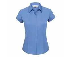 Dámská košile Russell Cap Sleeve Fitted Polycotton Poplin Shirt