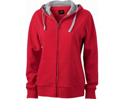 Dámská mikina James & Nicholson Ladies Lifestyle Zip-Hoody