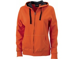 Dámská mikina James & Nicholson Ladies Hooded Jacket II