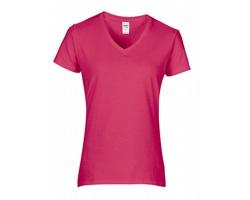 Dámské tričko Gildan Premium Cotton Ladies' V-Neck T-Shirt