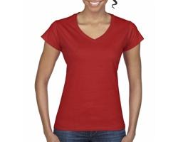 Dámské tričko Gildan Soft Style V-Neck