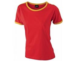 Dámské tričko James & Nicholson Flag-T