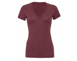 Dámské tričko Bella Triblend Deep V-Neck