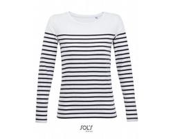Dámské tričko Sol´s  LS Striped Matelot
