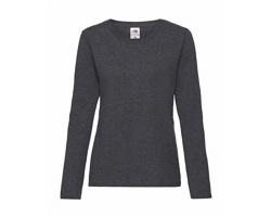Dámské tričko Fruit of the Loom Lady-Fit Valueweight Long Sleeve T