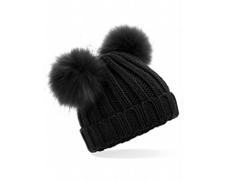 Čepice Beechfield Infant Faux Double Pom Pom