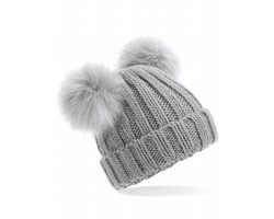Čepice Beechfield Junior Faux Double Pom Pom
