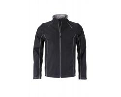 Pánská softshellová bunda James & Nicholson Mens Zip-Off Softshell Jacket