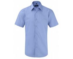 Pánská košile Russell Short Sleeve Tailored Polycotton Poplin Shirt