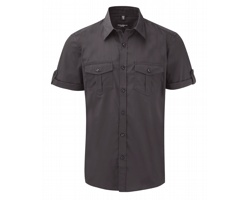Pánská košile Russell Men´s Roll Sleeve Shirt - Short Sleeve
