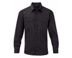 Pánská košile Russell Men´s Roll Sleeve Shirt - Long Sleeve