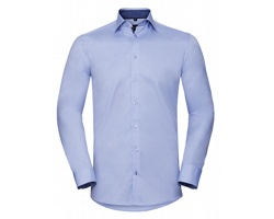 Pánská košile Russell Long Sleeve Tailored Contrast Herringbone Shirt