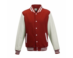 Unisexová mikina AWDis Just Hoods Varsity Jacket