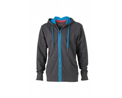 Pánská mikina James & Nicholson Mens Urban Hooded Sweat Jacket