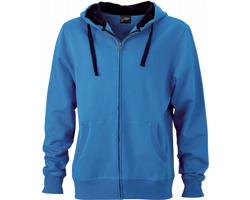 Pánská mikina James & Nicholson Mens Hooded Jacket II