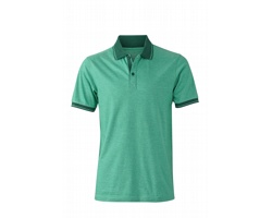 Pánská polokošile James & Nicholson Mens Heather Polo