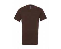 Unisexové tričko Canvas Jersey Short Sleeve V-Neck