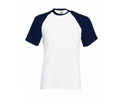 Pánské tričko Fruit of the Loom Short Sleeve Baseball T