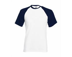 Pánské tričko Fruit of the Loom Short Sleeve Baseball T