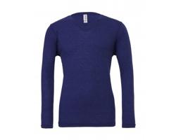 Unisexové tričko Bella & Canvas Triblend LS V-Neck