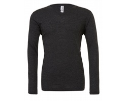 Unisexové tričko Canvas Long Sleeve V-Neck