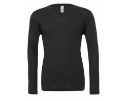 Unisexové tričko Canvas Jersey Long Sleeve V-Neck