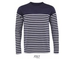 Pánské tričko Sol´s LS Striped Matelot
