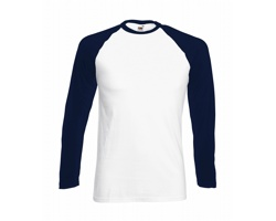 Pánské tričko Fruit of the Loom Long Sleeve Baseball T