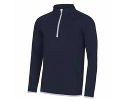 Pánské sportovní tričko AWDis Just Cool 1/2 Zip Sweat
