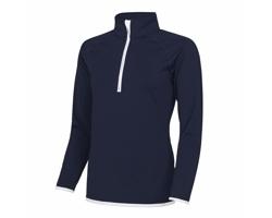 Dámské sportovní tričko AWDis Just Cool 1/2 Zip Sweat