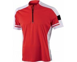 Pánské sportovní tričko James & Nicholson Mens Bike-T Half Zip