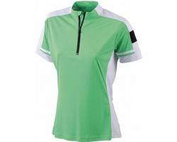 Dámské sportovní tričko James & Nicholson Ladies Bike-T Half Zip