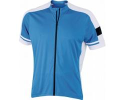 Pánské sportovní tričko James & Nicholson Mens Bike-T Full Zip