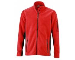 Pánská pracovní bunda James & Nicholson Workwear Fleece Jacket - STRONG