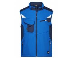 Pánská pracovní vesta James & Nicholson Workwear Softshell Vest - STRONG