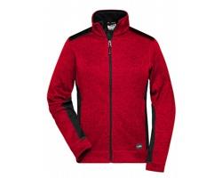Dámská pracovní bunda James & Nicholson Knitted Workwear Fleece Jacket - STRONG