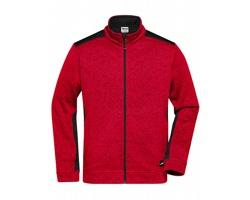 Pánská pracovní bunda James & Nicholson Knitted Workwear Fleece Jacket - STRONG