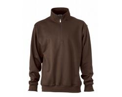 Unisexová pracovní mikina James & Nicholson Workwear Half Zip Sweat