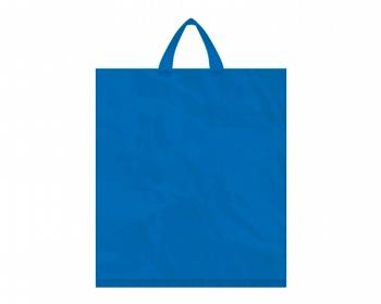 Náhled produktu Igelitová PE taška tmavě modrá - 400x460mm, páskové ucho a složené dno