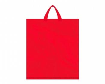 Náhled produktu Igelitová PE taška červená - 400x460mm, páskové ucho a složené dno
