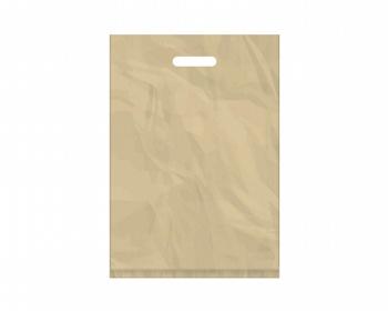 Náhled produktu Igelitová PE taška béžová - 350x500mm, pevný průhmat a složené dno