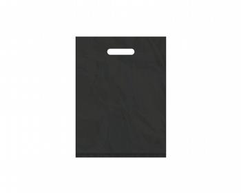 Náhled produktu Igelitová PE taška černá - 300x400mm, pevný průhmat a složené dno