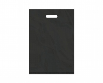 Náhled produktu Igelitová PE taška černá - 350x500mm, pevný průhmat a složené dno