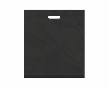 Náhled produktu Igelitová PE taška černá - 450x500mm, pevný průhmat a složené dno