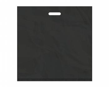Náhled produktu Igelitová PE taška černá - 550x550mm, pevný průhmat a složené dno